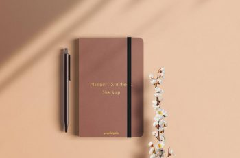 Planner Notebook Free (PSD) Mockup