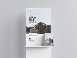Free Trade Show Poster Display Mockup