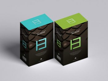 Modern Product Package Box Free (PSD) Mockup