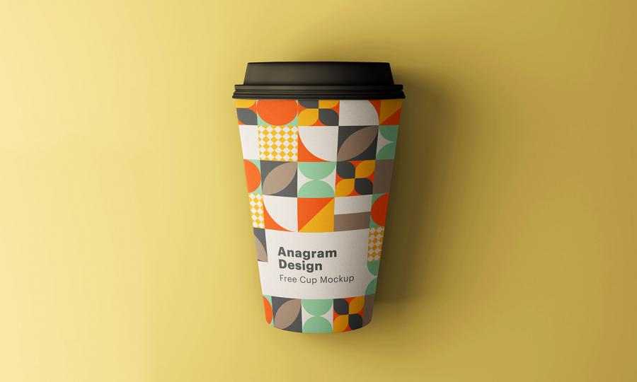 Paper Coffee Cup Free (PSD) Mockup