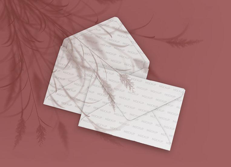 Envelopes Mockup Free PSD Template
