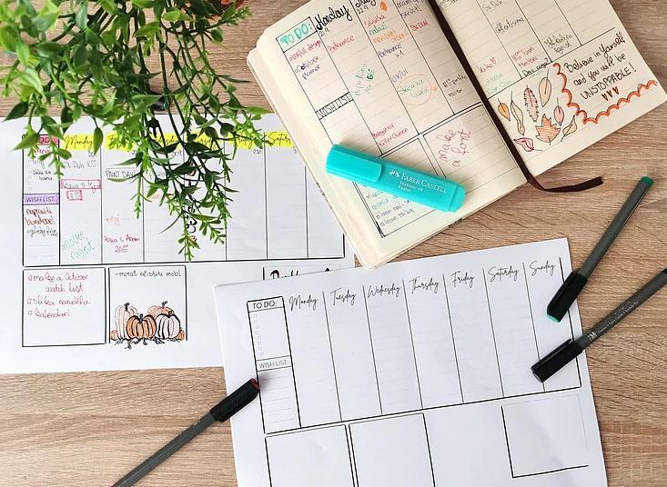 Free Weekly Planner Printable Mockup