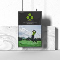 Brand Identity Poster Free Mockup (PSD)