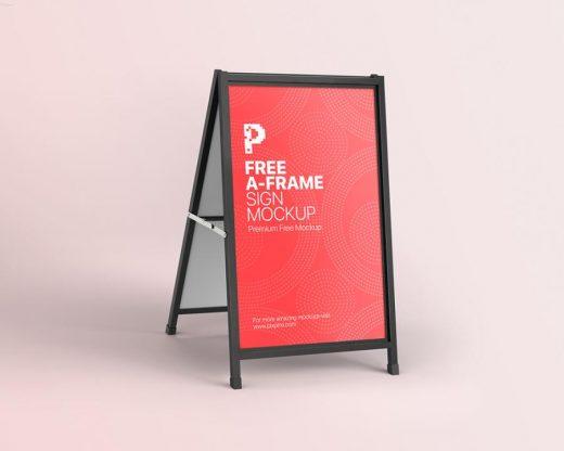 Free A-Frame Sign Mockup