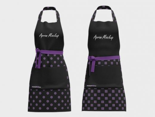 Free Aprons Set Mockup in PSD