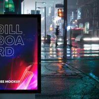 Free Billboard Advertising Mockup (PSD)
