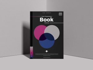 Free Book Cover Presentation Mockup (PSD)