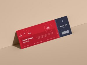Free Brand Ticket Mockup