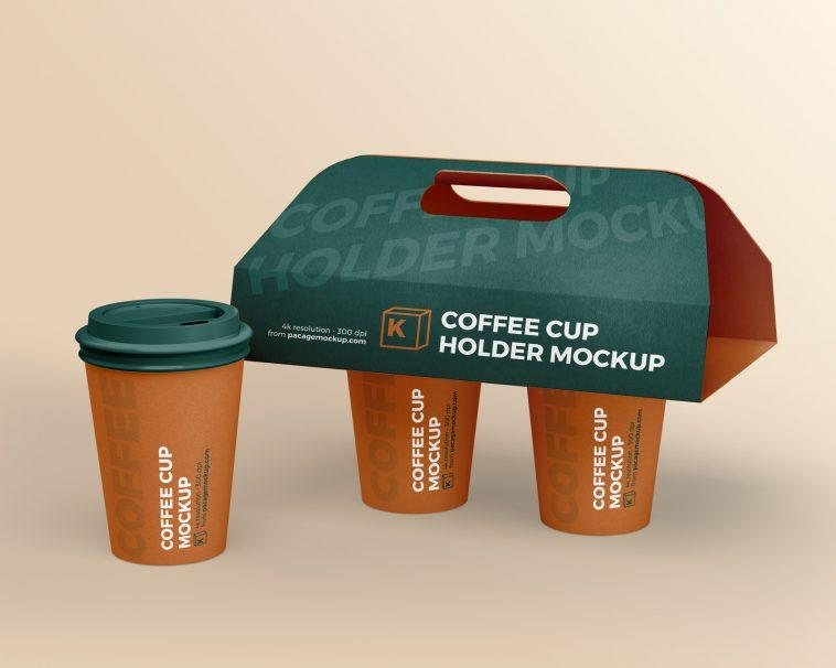 Free Coffee Cup Holder Mockup