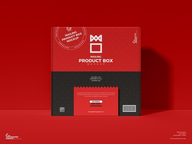 Free Mailing Product Box Mockup