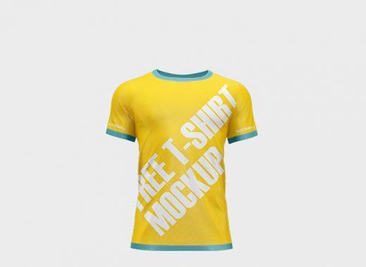 Free Male T-Shirt Design Mockup