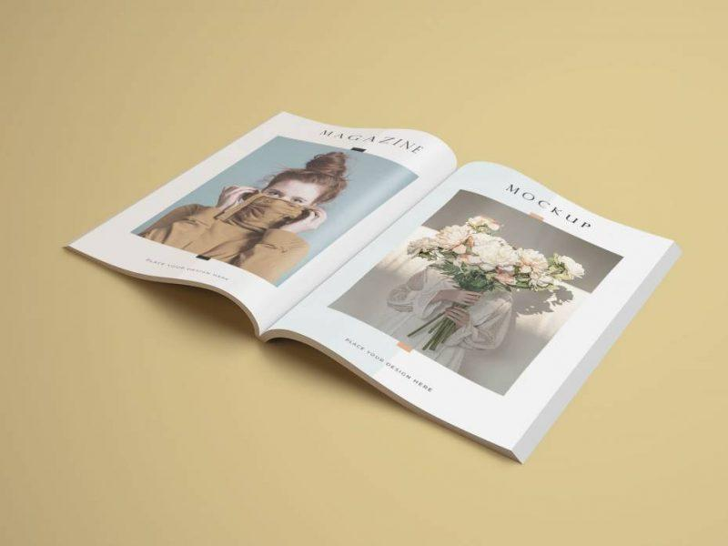 Free Modern A4 Magazine PSD Mockup