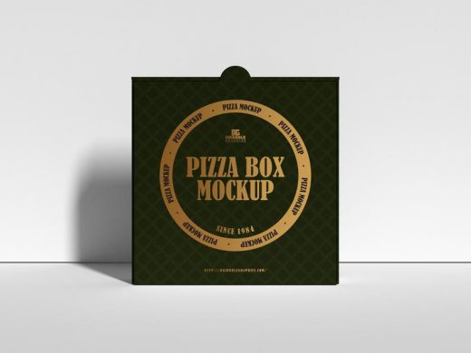 Free Modern Packaging Pizza Box Mockup