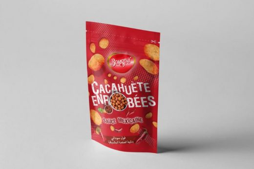 Free Nuts Packaging Pouch Mockup
