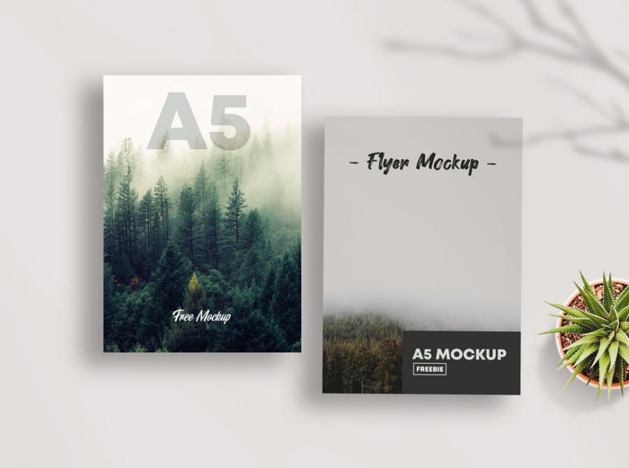 Free PSD A5 Flyer Mockup