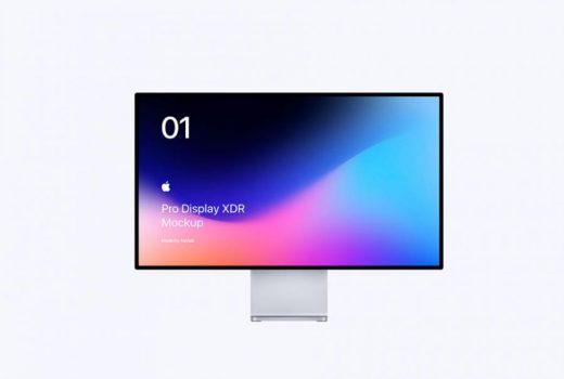 Free PSD Apple Pro Display XDR Mockup