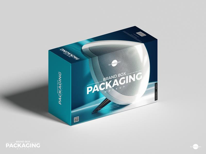 Free PSD Brand Box Packaging Mockup