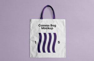 Free PSD Canvas Tote Bag Mockup