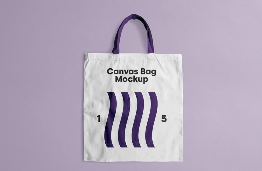 Free PSD Canvas Tote Bag Mockup