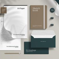 Free PSD Corporate Branding Stationery Mockup