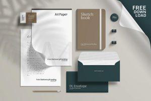 Free Corporate Branding Stationery Mockup (PSD)