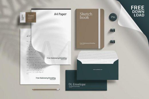 Free PSD Corporate Branding Stationery Mockup