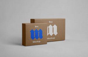 Free PSD Front Box Mockups