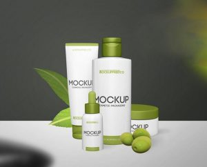 Beauty Cosmetic Packaging Free PSD Mockup