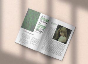 Minimalist Magazine Free Mockup (PSD)