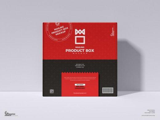 Free PSD Mailing Product Box Mockup