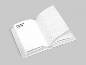 Free PSD Opened Book Mockup