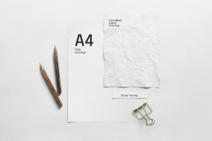Free PSD Paper Composition Mockup