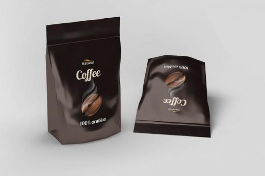 Free PSD Pouch Coffee Mockup