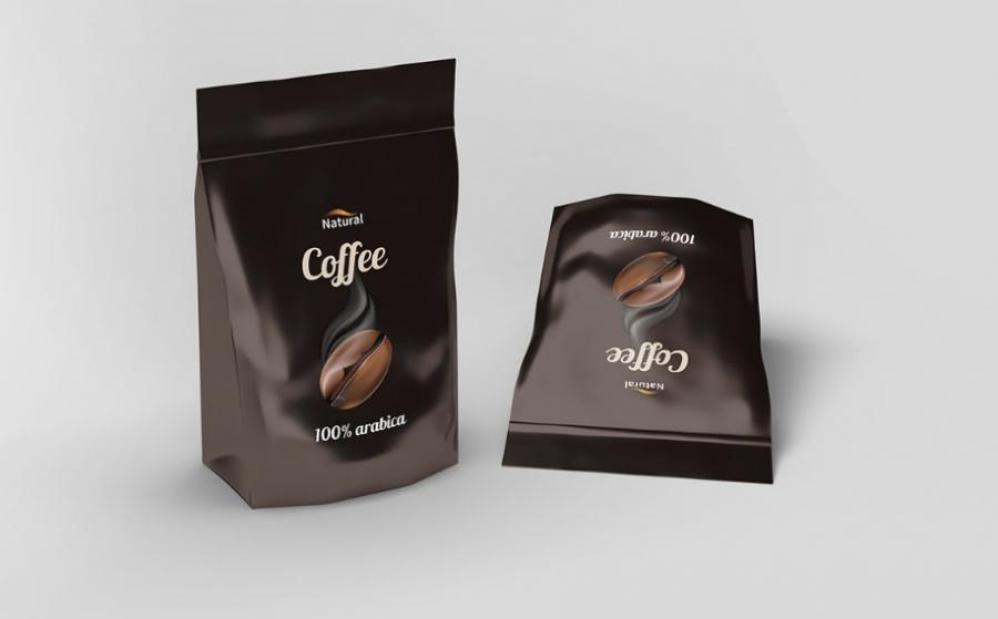 Free PSD Pouch Coffee Mockup