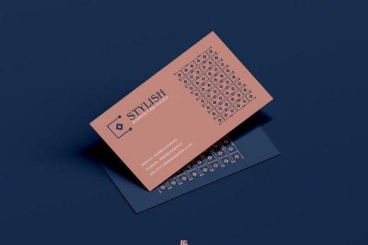 Free PSD Stylish Business Card Mockup