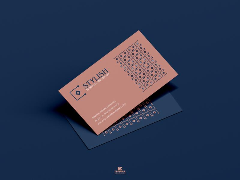 Free PSD Stylish Business Card Mockup