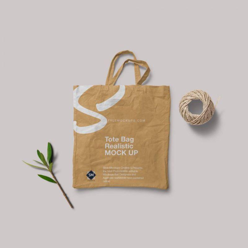 Free PSD Tote Bag Mockup