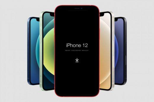Free PSD iPhone 12 Mockup