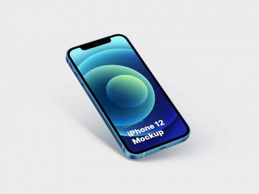 Free PSD iPhone 12 Mockup (All Colors)