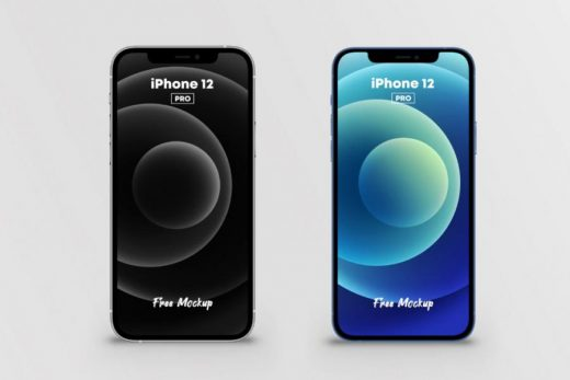 Free PSD iPhone 12 Pro Mockup (2 Colors)