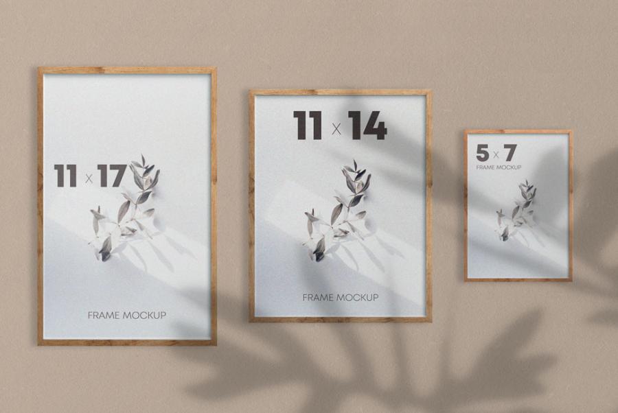 Free Poster Frames Mockup (PSD)