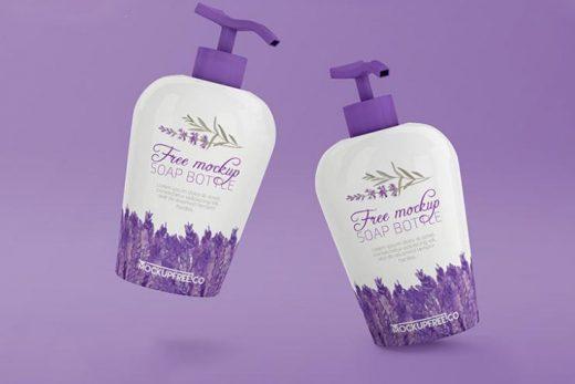 Free Soap Dispenser Bottle Mockup