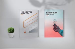 Free Two Hardcover Book Mockups (PSD)