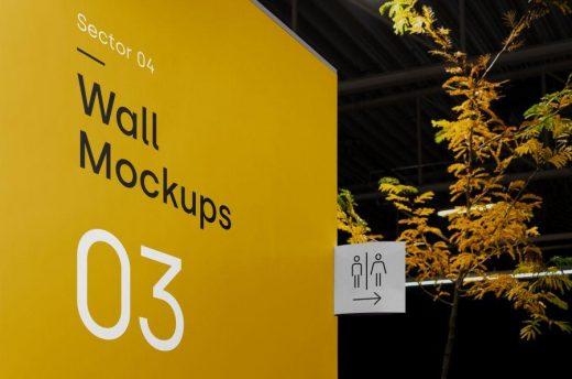 Free Wayfinding PSD Mockup