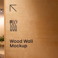 Free Wood Wall Sign Mockup
