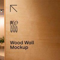 Free Wood Wall Sign Mockup