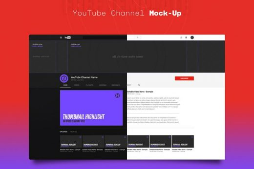 Free YouTube Channel Mockup Template