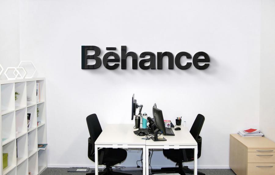 IT Company Office Wall Logo Mockup