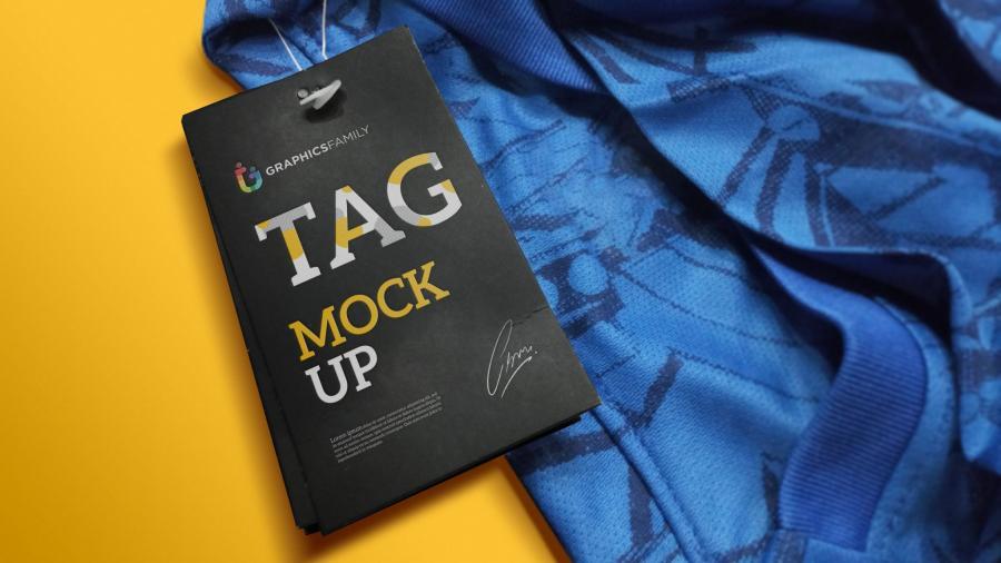 Paper Label Tag Free PSD Mockup