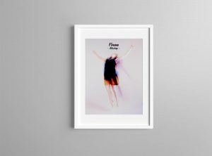 Realistic Poster Frame Free Mockup
